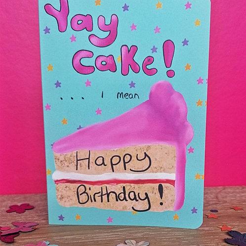 Yay Cake Card