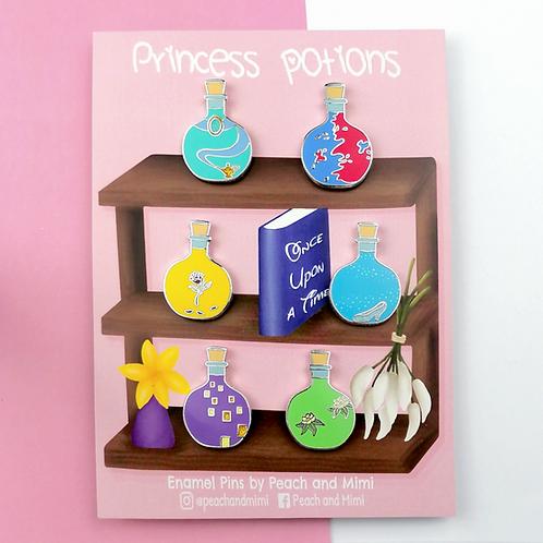Princess Potion Enamel Pins