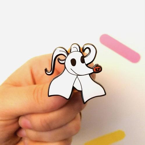 Ghost-dog Enamel Pin