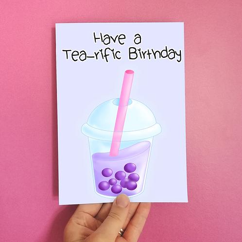 Tea-riffic Birthday Card