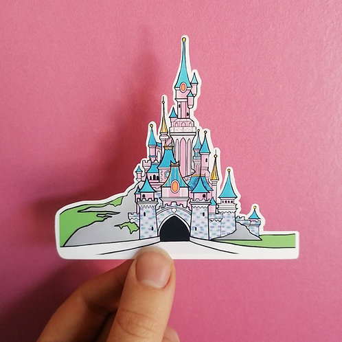 Disneyland Paris Castle Matte Vinyl Sticker