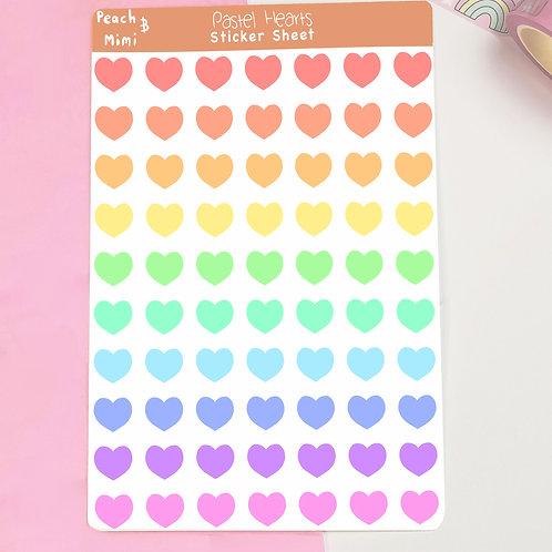 Pastel Heart Planner Stickers