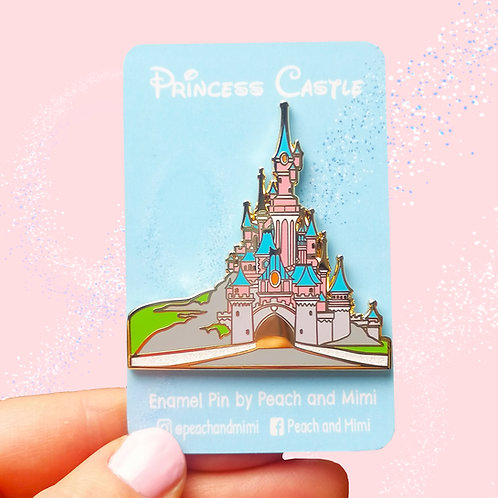Princess Castle Enamel Pin