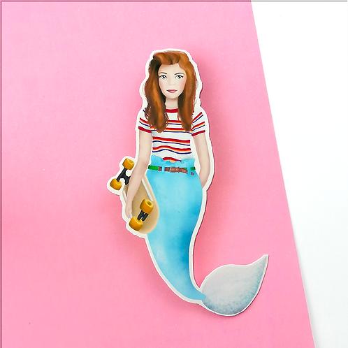 Max Stranger Things Mermaid Sticker