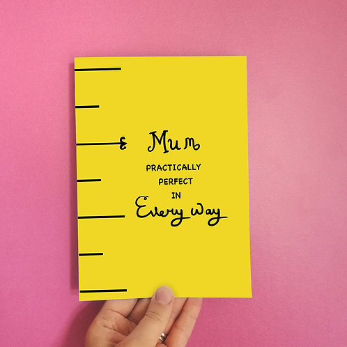 Practically Perfect Mother's Day Card