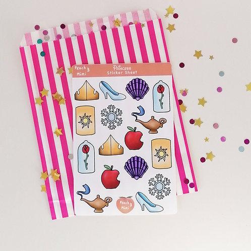 Disney Princess Sticker Sheet