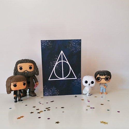 Deathly Hallows Greetings Card