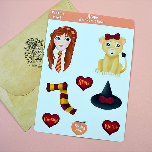 Brave Sticker Sheet