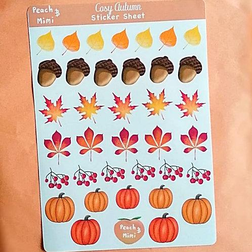 Cosy Autumn Sticker Sheet