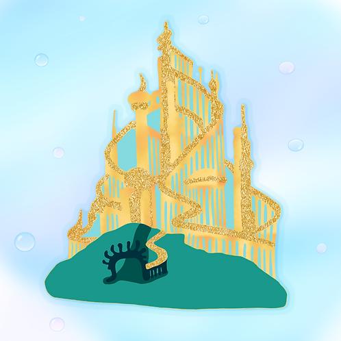 PREORDER - Mermaid Palace Enamel Pin