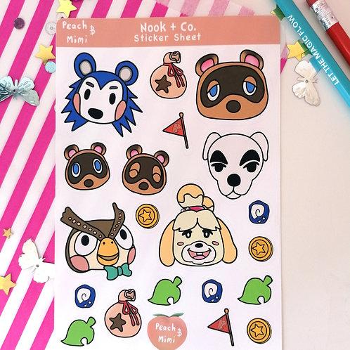 Animal Crossing Sticker Sheet
