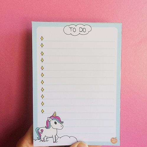 A6 Unicorn To Do List