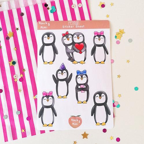 Penguin Sticker Sheet
