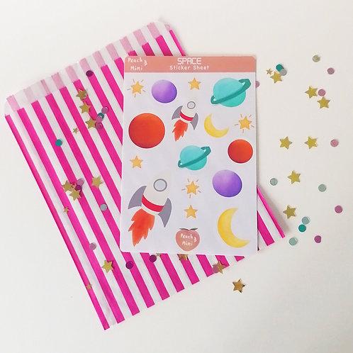 Space Sticker Sheet