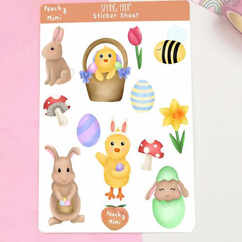 Springtime Sticker Sheet