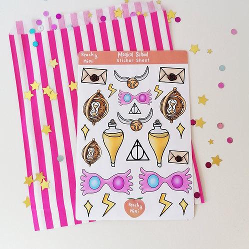 Magical School Sticker Sheet