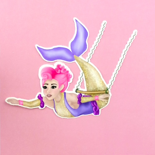 Circus Mermaid Sticker