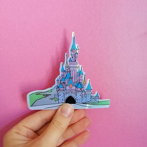 Disneyland Paris Castle Shiny Vinyl Sticker