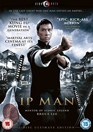(10/10) I had seen most if not all of this series before but it is just such a well done film. Nia and I watched it recently. It is such a well done movie for the martial arts genre but even beyond that it is just a great film. It is based on the true life of Ip Man and is sooo inspiring, especially the end when he fights for his country and the on screen captions talk about how he went on to spread Wing Chun kung fu and teach Bruce Lee. I love the relationship between Ip Man and his wife. I love that Lynn Hun(Mrs. Ip) is taller than Donnie Yen (Ip Man). The family dynamic was very strong and by no means pushed to the side. It played a central role in the film. Great acting all around. Great to hear this side of WWII, how Japan invaded China. Beautiful story, beautiful people, beautifully and masterfully told. I also wanted to point out the sound. An integral part of a martial arts film of course ( like the fighting and extra effects) but this sound was incredible and really moved me to my core. I could really really hear everything but it wasn't overdone at all. Great job sound studio! Donnie Yen shines of course.