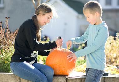 Big & Little Time Carving Pumpkins