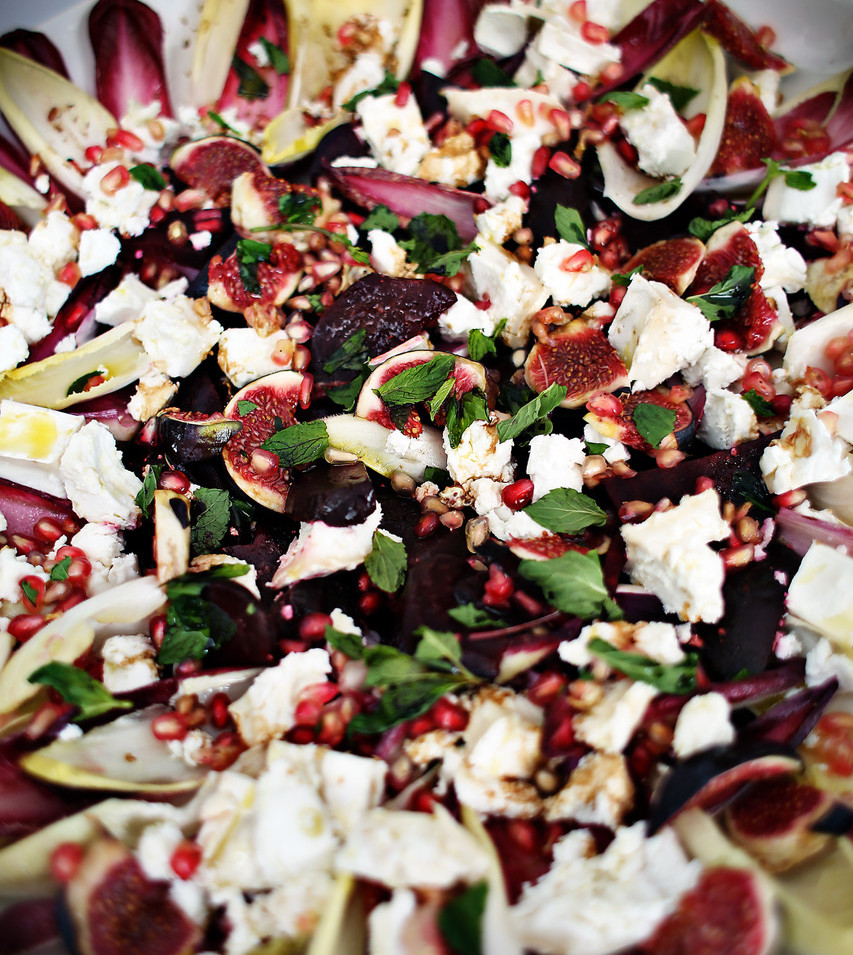 Pomegranate, Goats Cheese & Figs