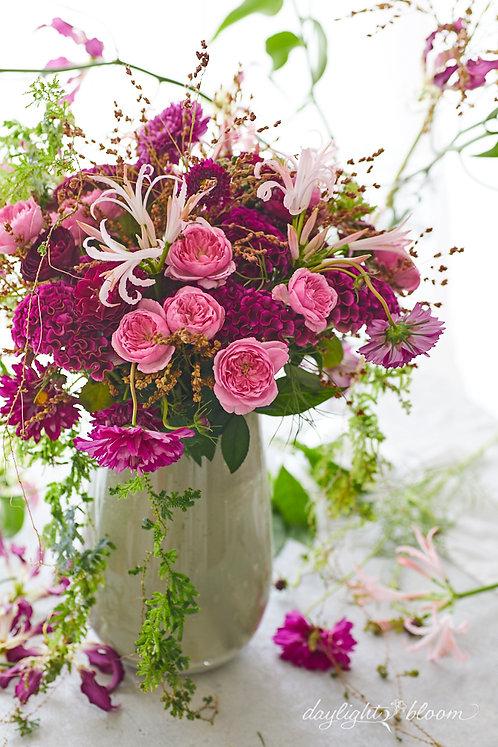 季節の花で、Sense-Upブーケ・アレンジメントレッスン