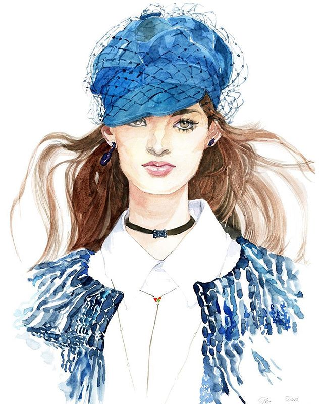 Dior Fashion Drawing