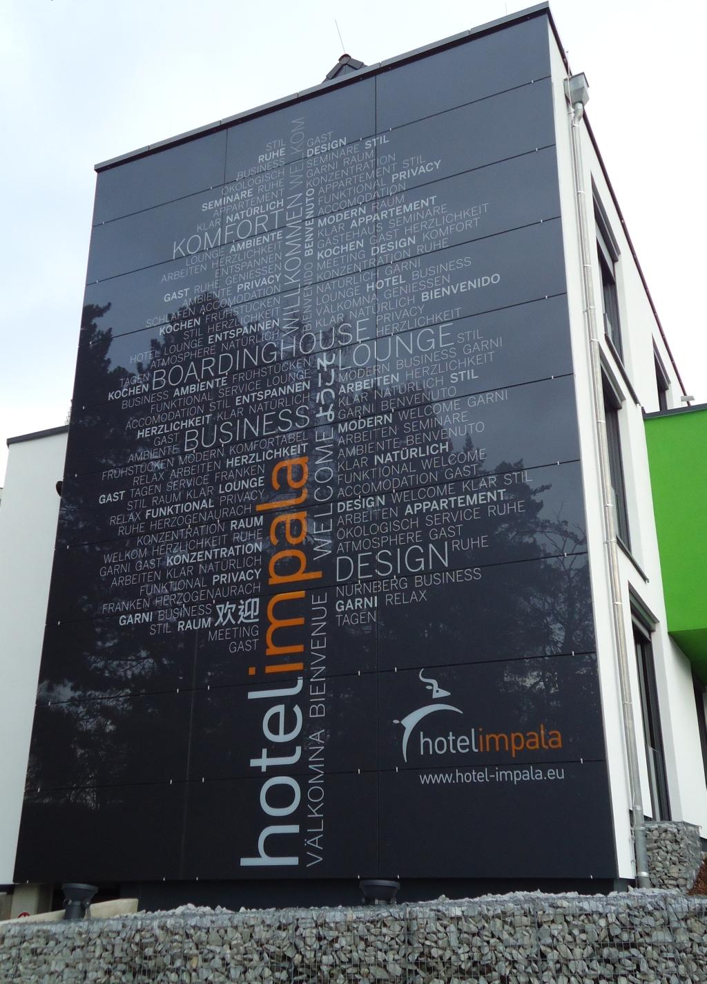 Glass Facade Signage