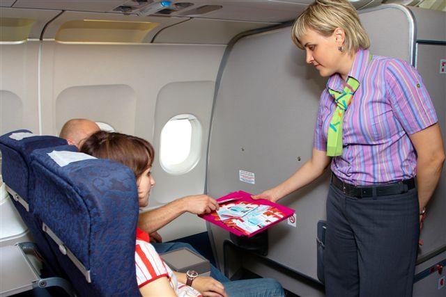 Промо-акция на борту самолета