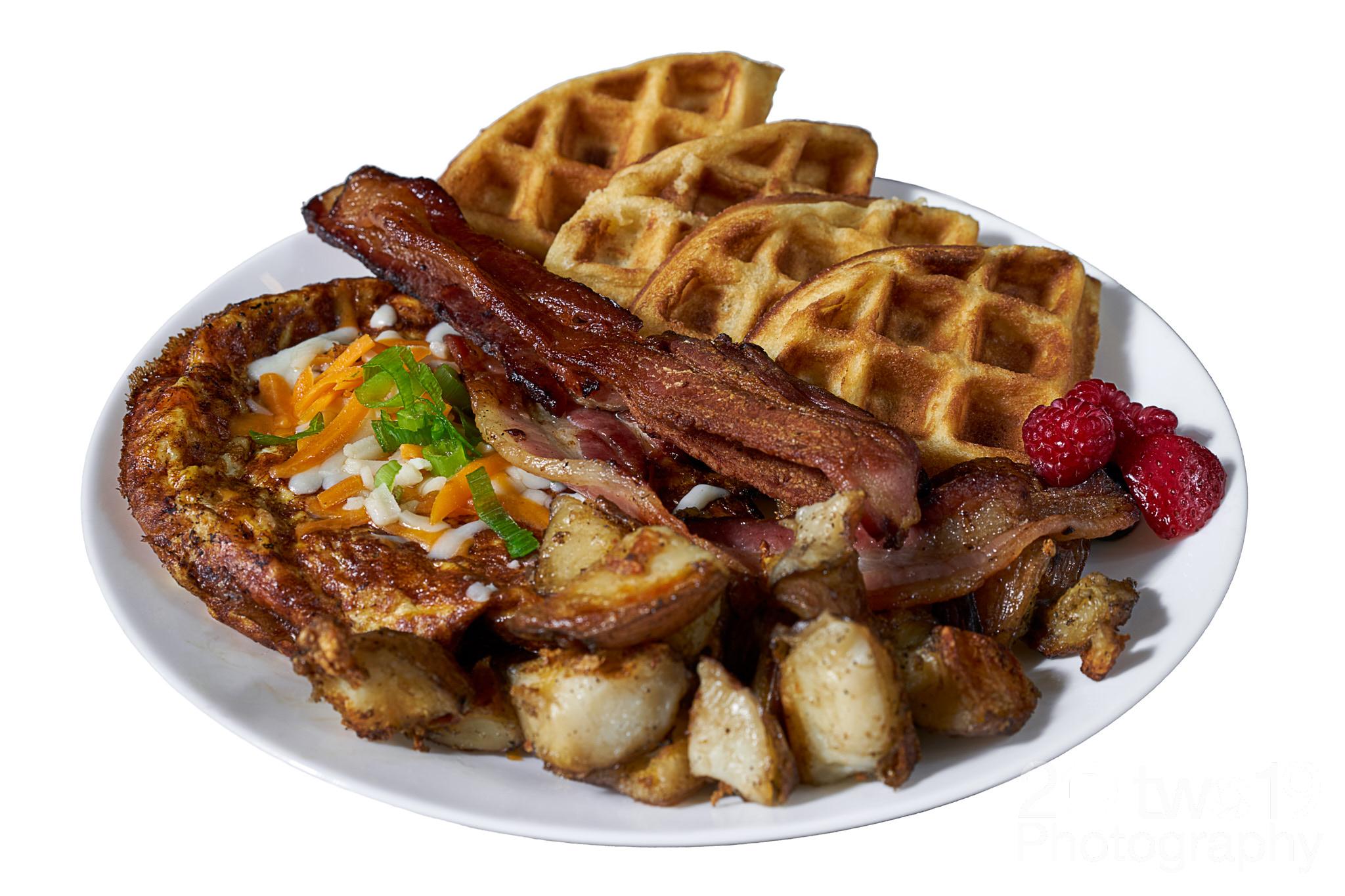 Belgian Waffle and Egg