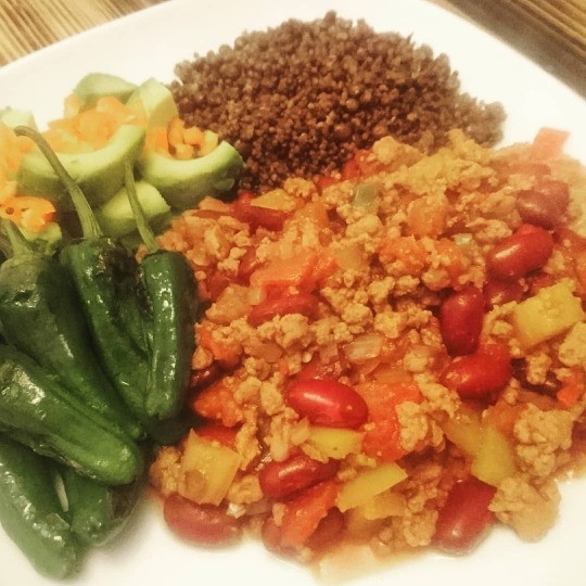 Vegan Mexican Chilli with Padron Peppers