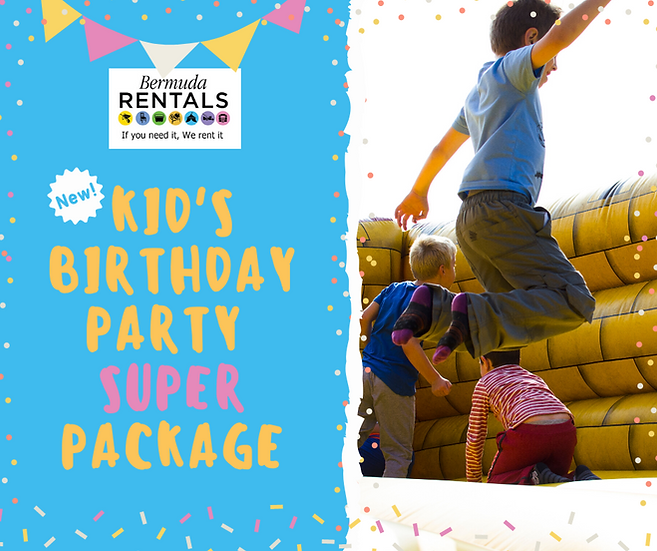 Kid's Birthday Party Package - Super