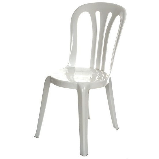 Bistro Stacking Chairs - White