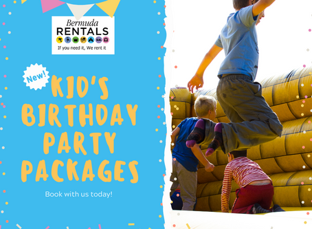 New!  Kid's Birthday Party Packages