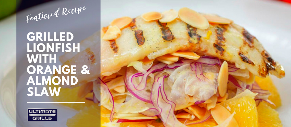 Grilled Lionfish with Orange & Almond Slaw