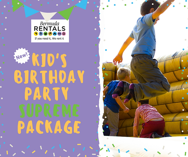 Kid's Birthday Party Package - Supreme