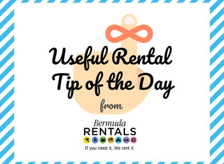 Useful Rental Tip of the Day - Saturday Bonus