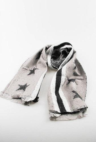 stars & stripes luxury scarf Grey/black