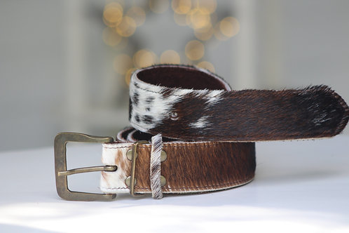 Brown & White fleck belt