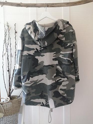 lightweight Camo hoodie in Khaki