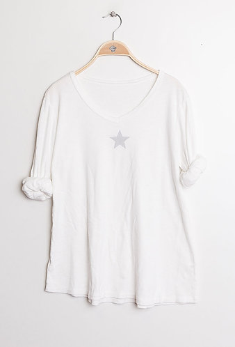 White star Cotton Tee