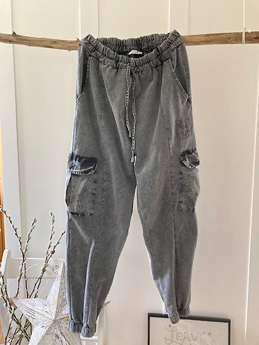Premium Vintage Joggers in (washed grey)