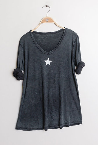 star Cotton Tee in Anthracite
