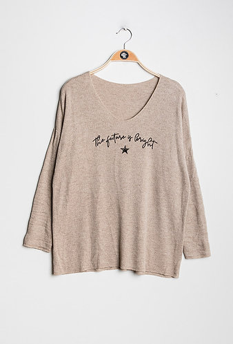 The future is bright slogan sweater