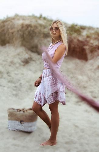ibiza tie dye mini in dusky pink