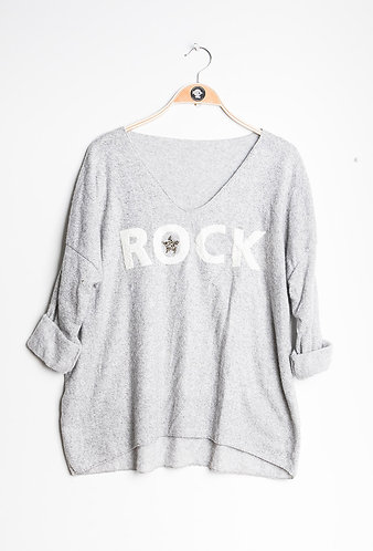 Rock sweater in grey