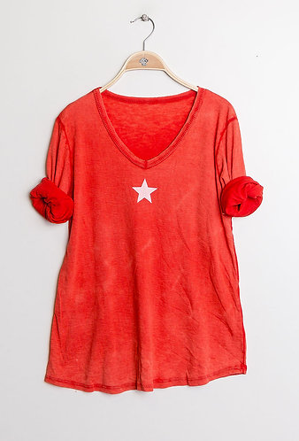red star cotton tee