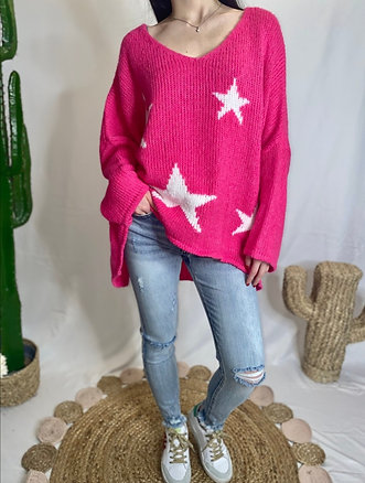 Pink Star Knit