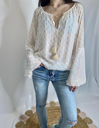 The Aurelia gilded blouse