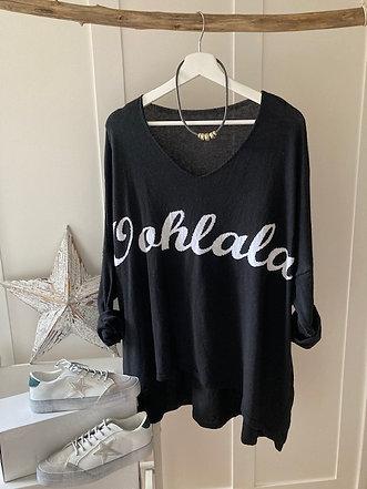 Oohlala lightweight knit in black